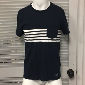 Abercrombie & Fitch Navy Blue Crew Neck Pocket Tee